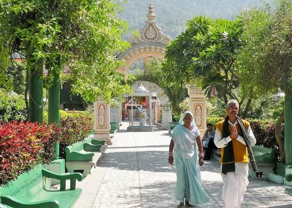 Photograph - Devotees In Rishikesh India by Kim Bemis