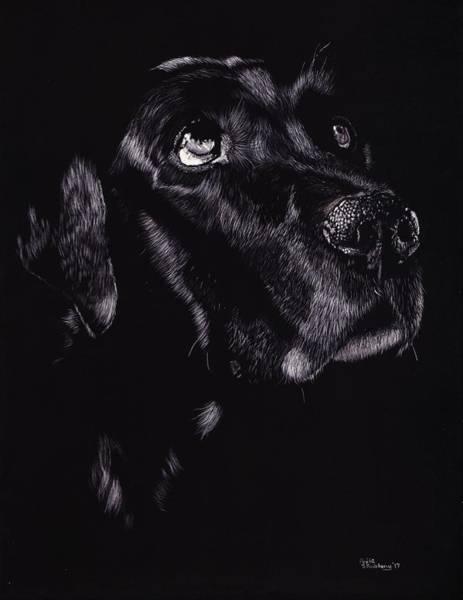 Black Lab Mixed Media - Devotion by Anita Skubleny