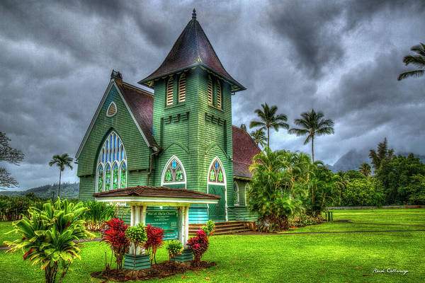 Photograph - Devotion Wai'oli Hui'ia Church Hanalei Kauai Collection Art by Reid Callaway