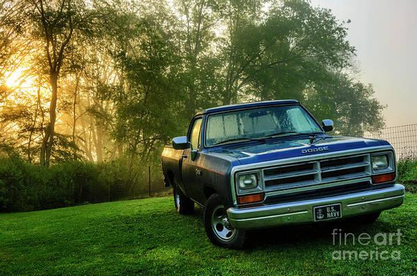 Mopar Photograph - Dew-covered Dodge Ram 100 by Thomas R Fletcher