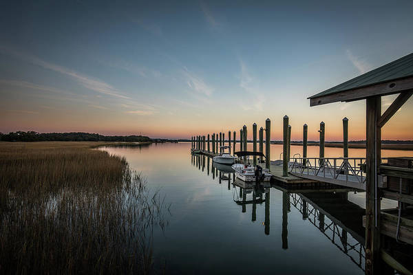 Photograph - Dewees Island Ferry Dock by Donnie Whitaker