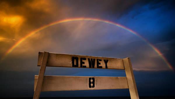 End Of Summer Photograph - Dewey Beach Rainbow by Geoffrey Baker