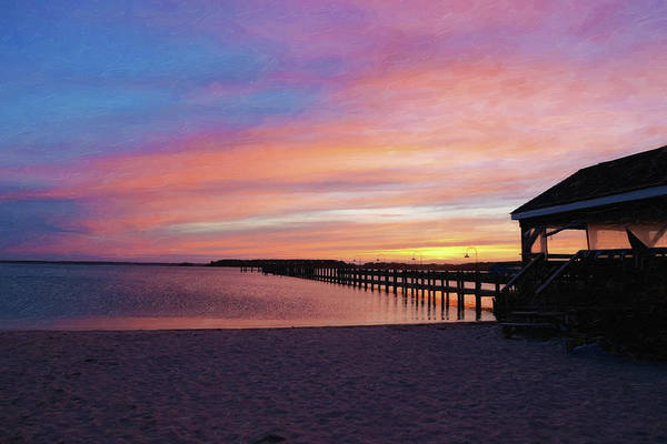 Photograph - Dewey Beach Sunset by Sue Collura