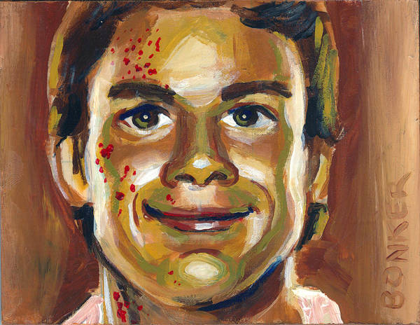 Serial Killer Painting - Dexter by Buffalo Bonker