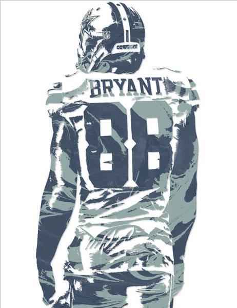 Wall Art - Mixed Media - Dez Bryant Dallas Cowboys Pixel Art 12 by Joe Hamilton