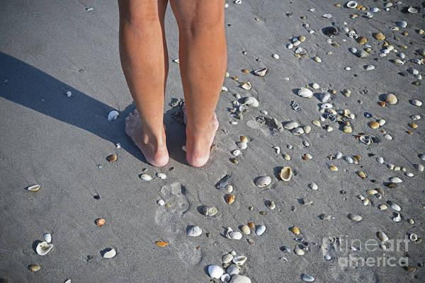 Photograph - Dez Feet On Beach by George D Gordon III