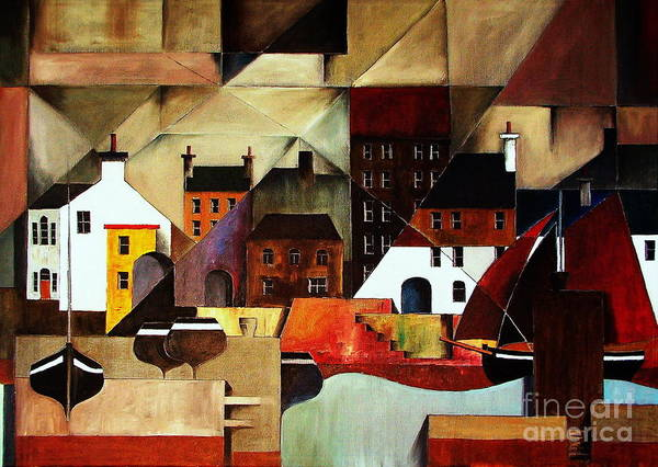 Painting - Home At Last In  Galway.. Cladagh Harbour by Val Byrne