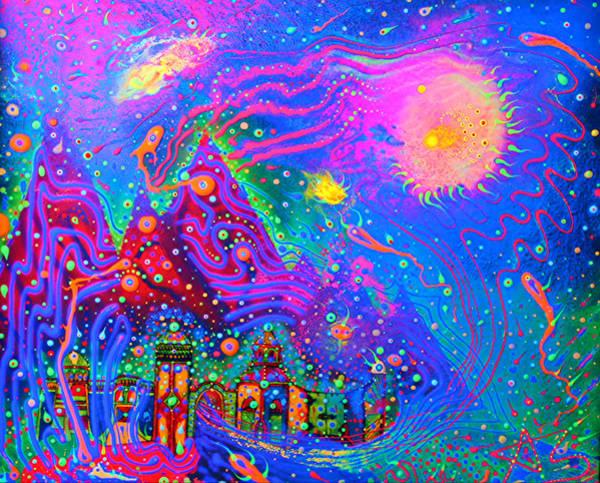Blacklight Painting - Dg00010 by Adam Slater