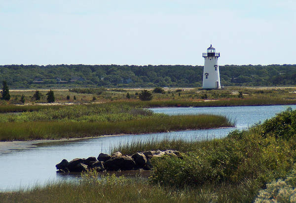 Photograph - Edgartown Harbor Lighthouse by Paul and Janice Russell