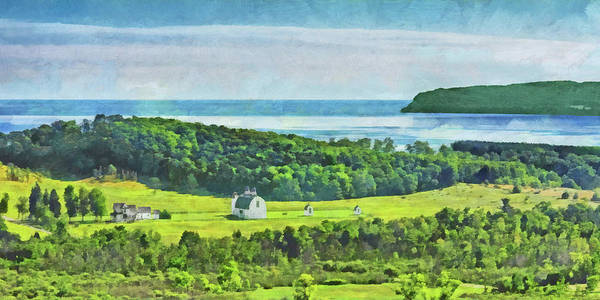 Digital Art - D. H. Day Farmstead At Sleeping Bear Dunes National Lakeshore by Digital Photographic Arts