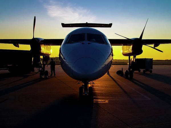 Photograph - Dhc-8-300 Refueling by Greg Reed