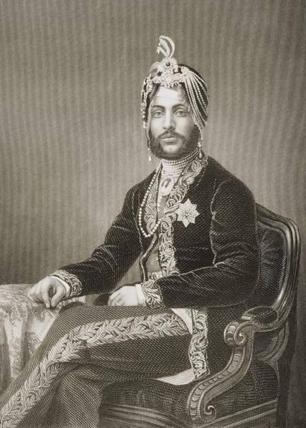 Singh Drawing - Dhuleep Singh, Maharajah Of by Vintage Design Pics