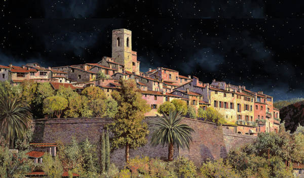 Starry Night Wall Art - Painting - di notte a St Paul by Guido Borelli