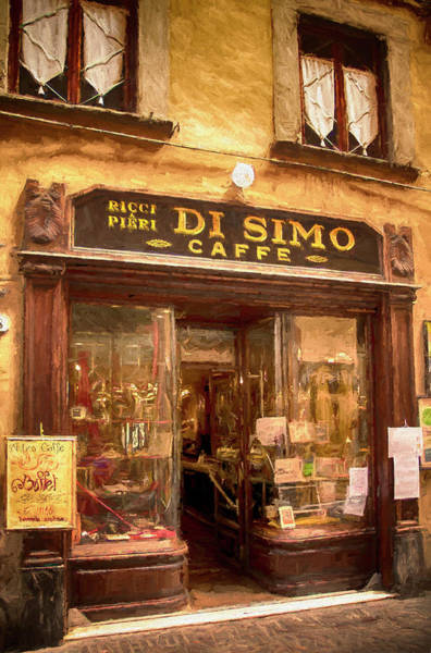 Digital Art - Di Simo Caffe by Mick Burkey