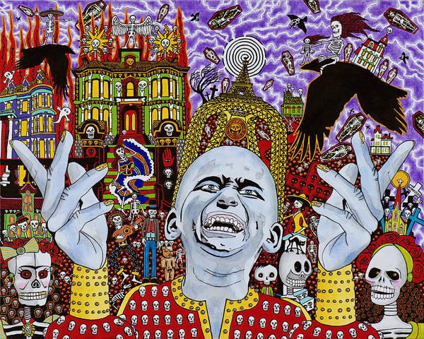 Voodoo Doll Painting - Dia De Los Muertos by Alan Morrison
