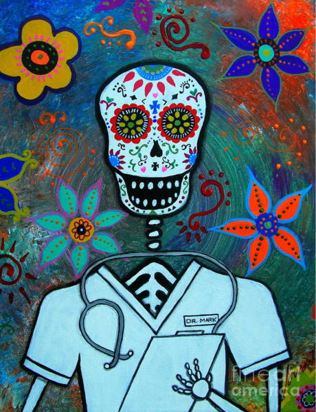 Painting - Dia De Los Muertos Doctor by Pristine Cartera Turkus