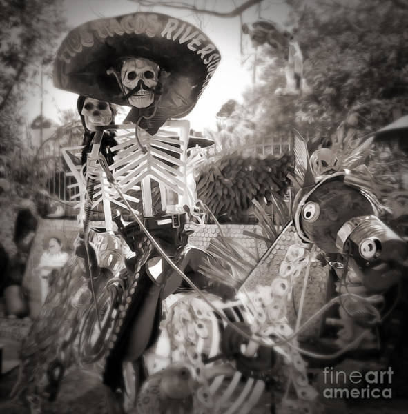Photograph - Dia De Los Muertos In Sepia Tone by Gregory Dyer
