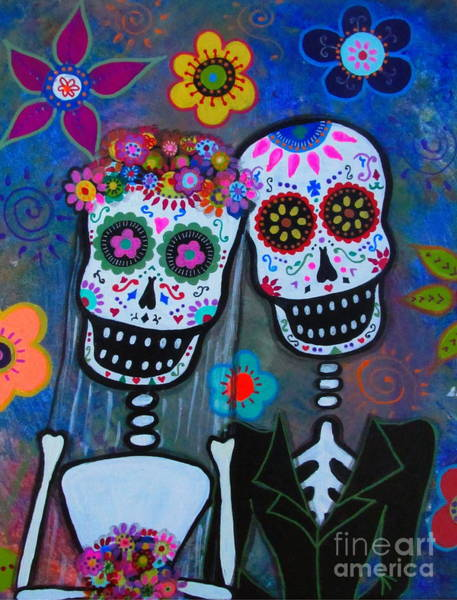 Painting - Dia De Los Muertos Matrimonio by Pristine Cartera Turkus