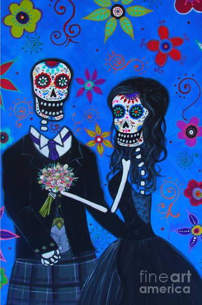 Painting - Dia De Los Muertos Special Wedding by Pristine Cartera Turkus