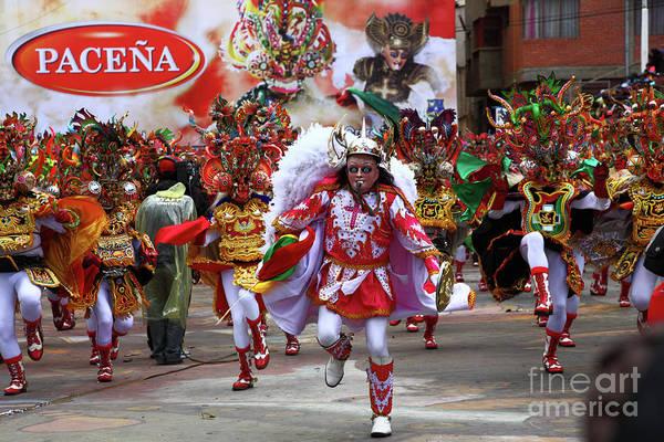 Photograph - Diablada Dancers At Oruro Carnival Bolivia by James Brunker