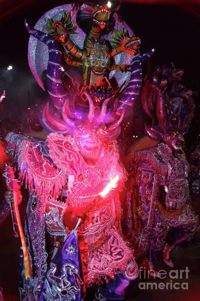 Photograph - Diablada Devil Dancer At Bolivias Oruro Carnival by James Brunker