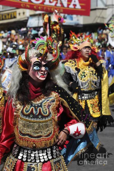 Photograph - Diablada Devil Dancers Bolivia by James Brunker