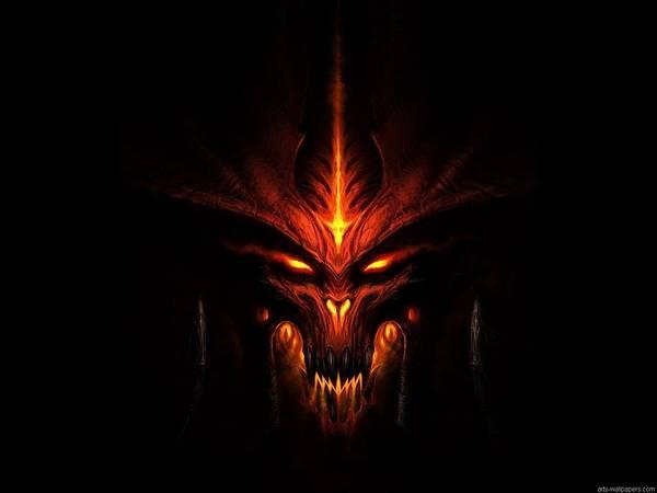 Black Digital Art - Diablo IIi by Maye Loeser