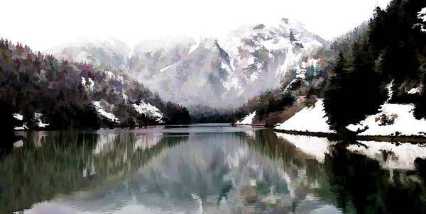 Skagit Valley Painting - Diablo Lake by Jeelan Clark
