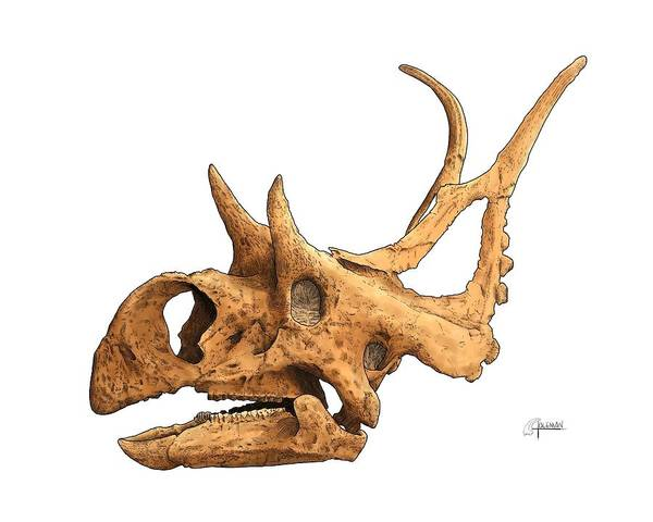 Digital Art - Diabloceratops by Rick Adleman