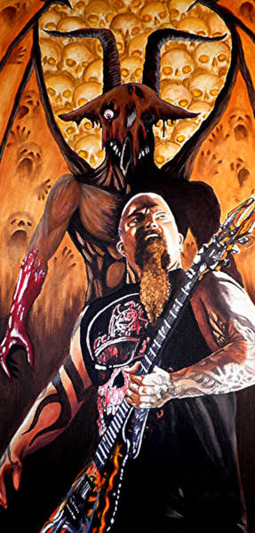 Slayer Painting - Diabolus In Musica  by Al  Molina