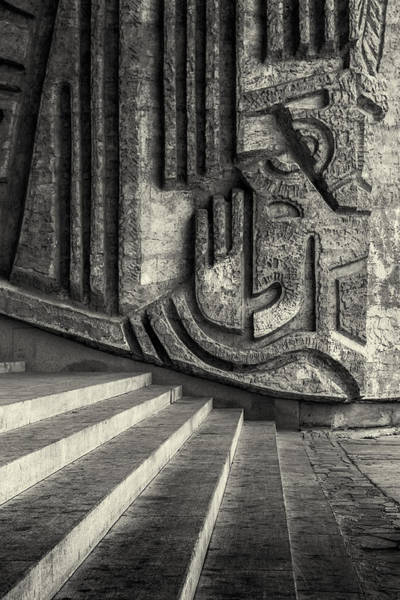 Photograph - Diagonal Stairs And Wall Sculpture by John Williams