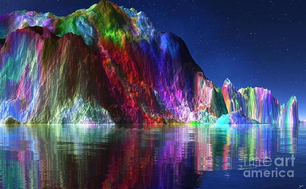 Wall Art - Mixed Media - Diamond And Emerald Coastline by Heinz G Mielke