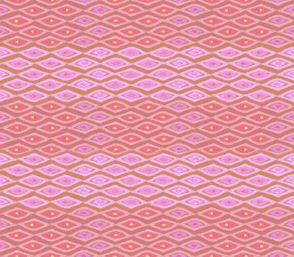 Digital Art - Diamond Bands Salmon by Karen Dyson