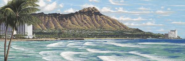 Oahu Painting - Diamond Head by Andrew Palmer