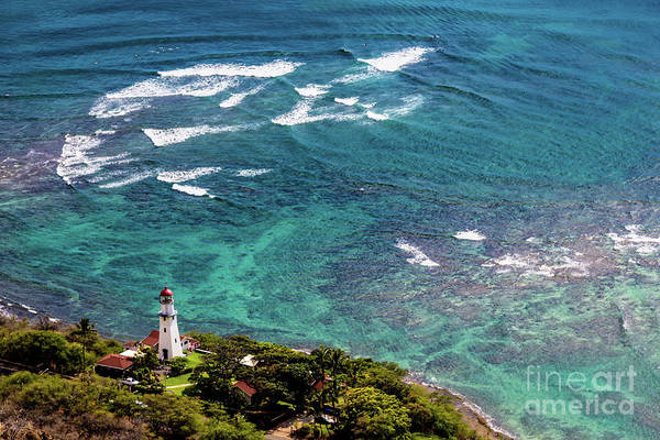 Photograph - Diamond Head Light House by Jon Burch Photography
