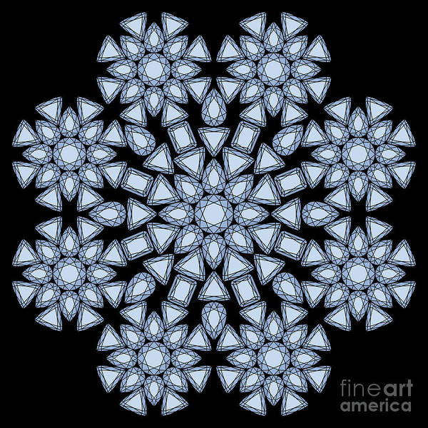 Digital Art - Diamond Mandala by Heather Schaefer