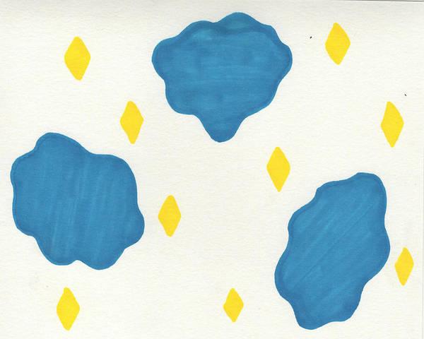 Inking Painting - Diamond Rain by Sindy Original