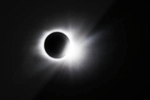 Photograph - Diamond Ring Effect At The Full Solar Eclipse by Debra and Dave Vanderlaan