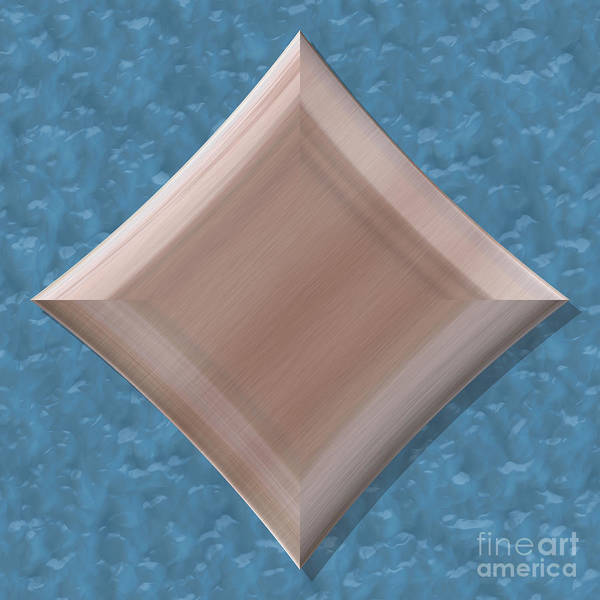 Granite Digital Art - Diamond Shape Frame With Seamless Generated Texture by Miroslav Nemecek