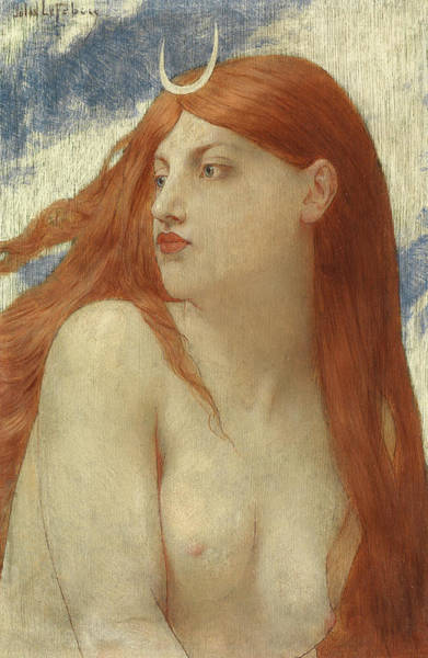 Mythology Painting - Diana, 1902 by Jules Joseph Lefebvre