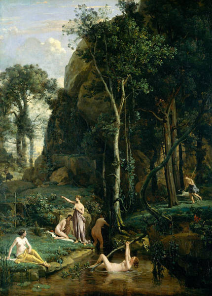 Painting - Diana And Actaeon by Jean-Baptiste-Camille Corot