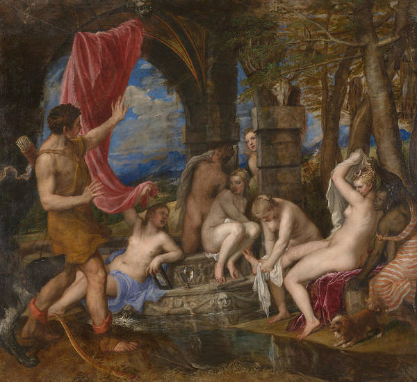 Painting - Diana And Actaeon by Titian