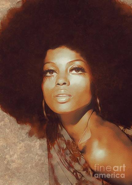 Stardom Painting - Diana Ross, Music Legend by Mary Bassett