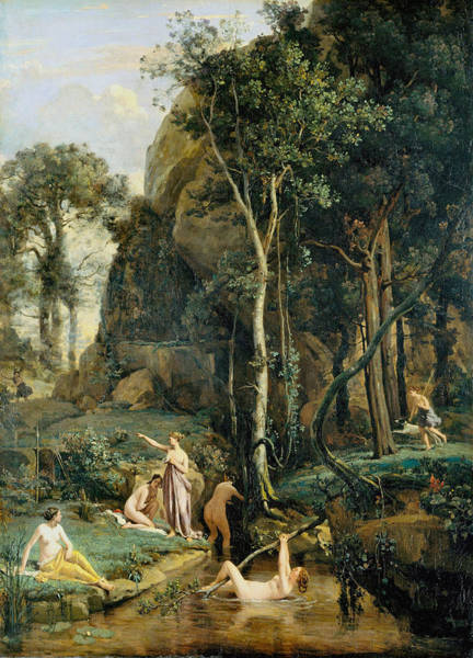 Photograph - Diana Surprised In Her Bath by Camille Corot