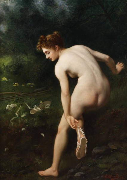 Culture Painting - Diana by Victor Karlovich Shtemberg