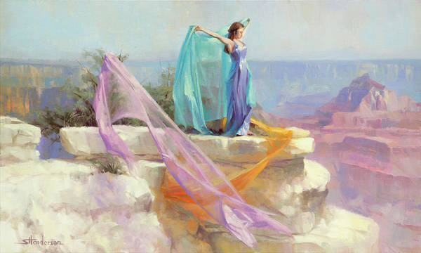 Plateau Wall Art - Painting - Diaphanous by Steve Henderson