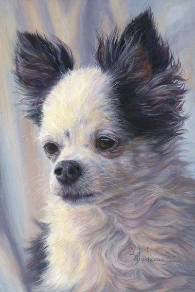 Canine Wall Art - Painting - Dice by Lucie Bilodeau
