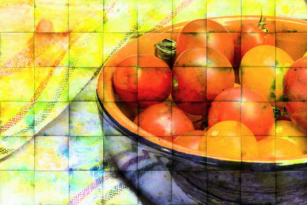 Wall Art - Photograph - Diced Tomatoes by Michel Emery