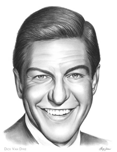 Drawing - Dick Van Dyke by Greg Joens