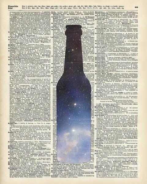 Wall Art - Painting - Dictionary Art - Magic Beer by Anna W